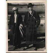 1919 Press Photo George Grossmith of England & Mrs Bryan