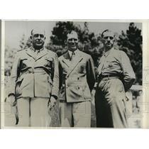 1932 Press Photo from Left to Right; R. Morrigi, Heinrich Hax & D. Matteno
