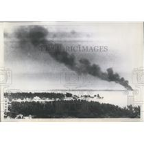 1952 Press Photo St Petersburg Fla this photo taken 15 miles away shows dense