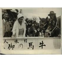 1929 Press Photo Frances Burnett wife of Military Attache to US Embassy of Tokyo
