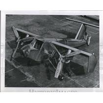 1957 Press Photo Designed to take off and land vertically, hover and fly in