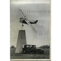 1934 Press Photo TW Moron in Leopard Motor plane in King's Cup race England