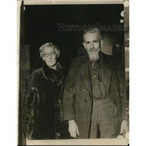 1927 Press Photo Mr. and Mrs. Alex Hughes of Oklahoma