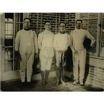 1923 Press Photo Cuban fencers in DC D Aizcambi, E Izquerio, L Anton, A Mirande