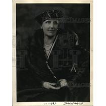 1935 Press Photo Mrs. George Burnham National Vice Presdient of Girl Scout