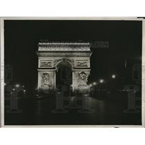 1921 Press Photo Beautiful Arc de Triomphe