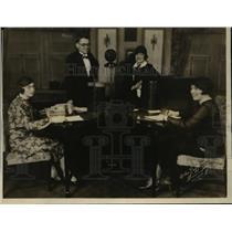 1926 Press Photo Miss Anne Bronaugh, H H Roberts, Miss C E Bates, and