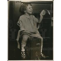 1922 Press Photo Helen Gallanter age 3 has traveled 50,000 miles