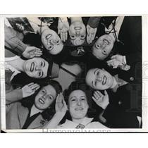 1942 Press Photo United Airlines, Goodwin, Doherty, Godlove, Koontz, Vance