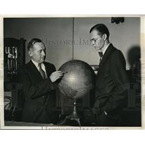1933 Press Photo William Haines, George Grimminger for Byrd expedition to South