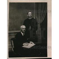 1920 Press Photo Monsignor Brent & Robert H Gardiuer of the Faith & Order Confer