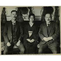 1929 Press Photo R Wakatsuki, former Japan Premier, Adm & Mrs Takarake