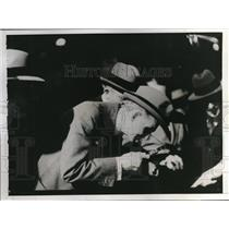 1935 Press Photo Henry Ford, guest at General Electric plant at Schenectady, NY.