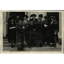 1921 Press Photo Madame Kaji Yajima, Mrs Karl Baldwin, Miss Morinja, with