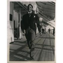 1938 Press Photo Col. H.F. Julien Aviator of Black Eagle