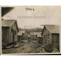1920 Press Photo The construction of houses in Cantorment City