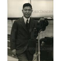 1932 Press Photo Manzo Oda on NYK Liner in San Francisco