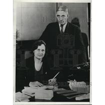 1933 Press Photo Mr & Mrs Geo Redding Pres & Vice Pres of the unemployed