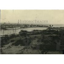 1920 Press Photo Harbor of Curacao on Island od Curacao, Venezuela Coast