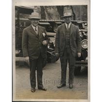 1927 Press Photo Supt of Police Michael Crowley of Boston & Paul Crowley(l to r)