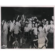 1939 Press Photo Crowd Breaking Up Communist Rally, San Antonio, Texas