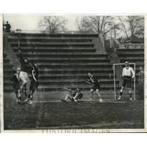1930 Press Photo Combine lacrosse team of Oxford & Cambridge Universities