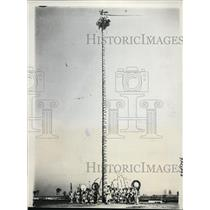 1937 Press Photo Otomi Indians do Aztec dance at Chicago Jubilee Festival