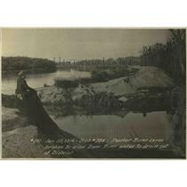 1916 Press Photo View Of a levee Broken at Feather River