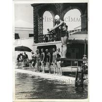 1935 Press Photo Outdoor Swimming Pool At Bermuda's Princess Hotel