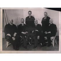 1921 Press Photo President Braun Von Richter Prussian Cabinet, Minister Finance