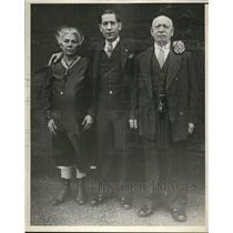 1930 Press Photo Mary, Joe and Emanuel Falcaro