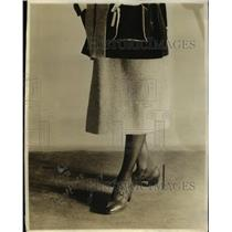 1921 Press Photo Shoes of Cordovan leather with sensible heels for walking