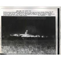 1959 Press Photo Pan American World Airways Boeing 707 landing