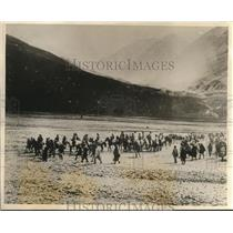 1926 Press Photo Maharajah of Kasmir Annual Pilgrimage to the Simla Hills