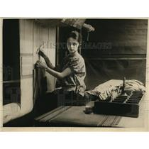 1926 Press Photo First girl in rug industry of France Marguerite Loger