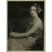 1926 Press Photo Lady Diana King's portrait, young musician