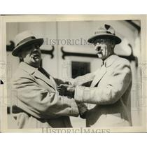 1920 Press Photo J. H. McMillen & John Moxon In Suits With Cigars