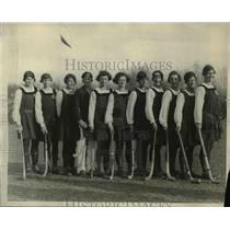 1923 Press Photo English girls hockey team