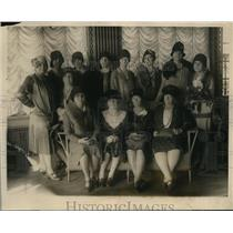 1928 Press Photo Mrs. Thompkins, Mrs. Street, Mrs. Burlinger, Mrs. Newkirk