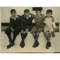 1922 Press Photo Harry, Richard, Don& Eigene Metz of NY