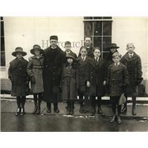 1921 Press Photo Sunday schools pipils Trinity Episcopal Church & Pres Harding