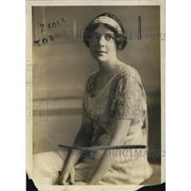 1919 Press Photo Miss Isabel Vincent daughter of Pres of Univ of MN