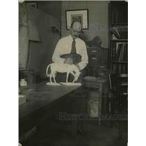 1921 Press Photo Professor J.N. Gidley of the Smithsonian Institute