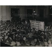 1923 Press Photo Anti Capital Punishment protest meeting crowds