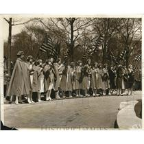 1931 Press Photo Ladies of the Auxiliary at Bost May Patriotic Rally