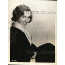 1932 Press Photo Gifted NBC staff organist, Irma Glen