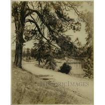 1924 Press Photo Downriver Park in Spokane Wash covered in snow