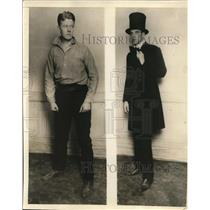 1925 Press Photo Andrew McCarren and William Gowrie of Cellar Players