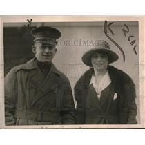 1919 Press Photo Lieut. Carlos B. Stephens & her Bride Ms. Elsie Gertrude Tooley
