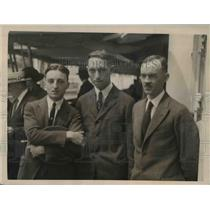 1922 Press Photo Harvey Karcher, Otto Kopper, Edmund Tallen MIT students